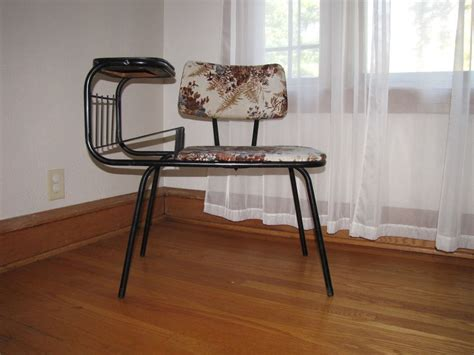vintage mid century atomic era gossip bench phone table