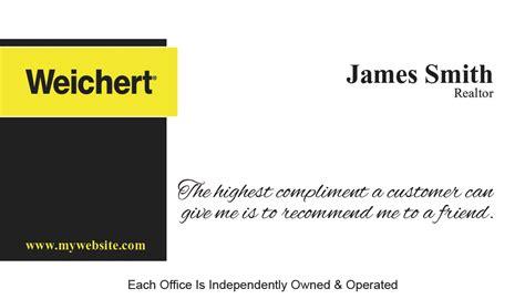 weichert business card template weichert realtors business cards 02 weichert business
