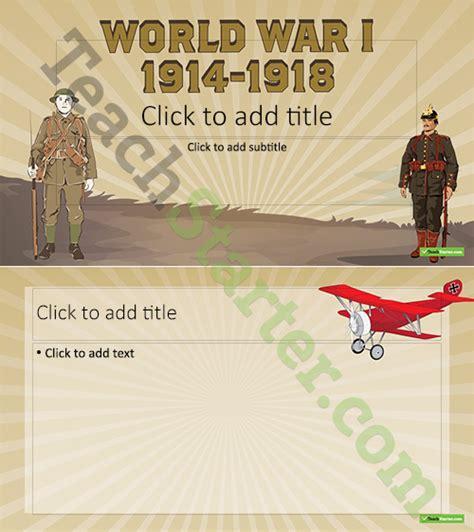 war powerpoint template world war i powerpoint template teaching resource