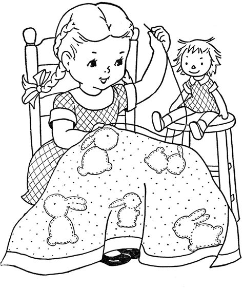 Coloring Page Quilt by Quilt Squares Coloring Pages