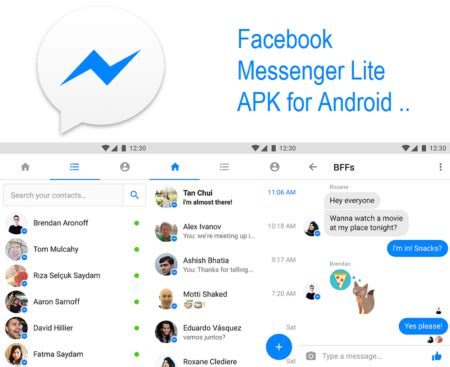 fb messenger apk free messenger lite apk for android via direct link