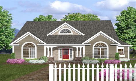 one level house plans with porch one story house plans with front porches one story house