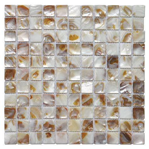 decorative mosaic tile colorful river bed natural pearl shell tile