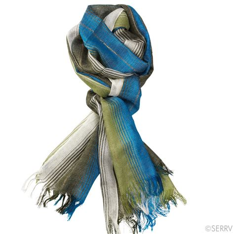 teal and gold camari scarf