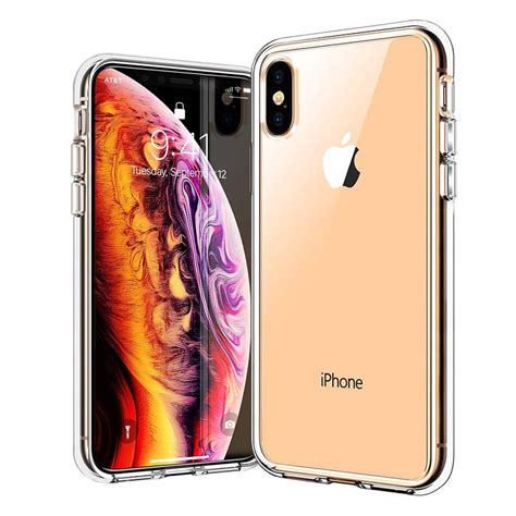 iphone xs clear protective  agile button ranvoo