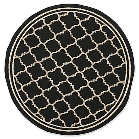 Quatrefoil Outdoor Rug Buy Safavieh Courtyard Miniature Quatrefoil 4 Foot Indoor Outdoor Accent Rug In Black From