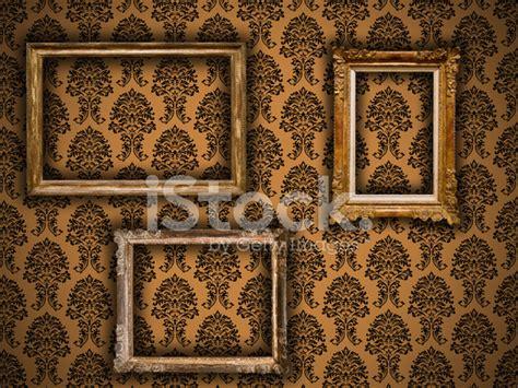 cornici vintage cornici vintage dorate su sfondo damascati fotografie