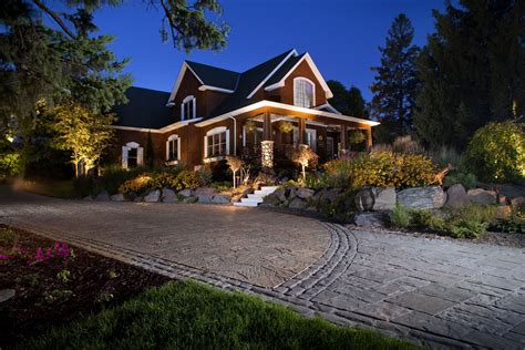 landscape lighting driveway increase your home security with landscape lighting pro tips install it direct