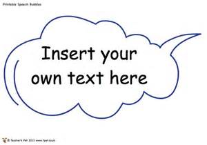 Editable Speech Template by Editable Speech Bubbles Writing Resources