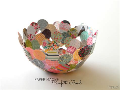 How To Make Paper Mã Chã Paste - homework a creative inkling paper mache confetti bowl
