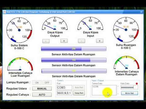 tutorial arduino visual basic visual basic 6 arduino xbee lm35 ldr ultrasonic