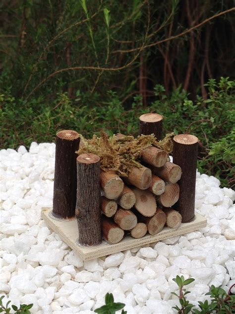miniature fairy garden accessories mini wooden wood pile