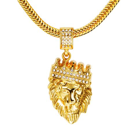 mens hip hop jewelry iced out 18k gold plated fashion