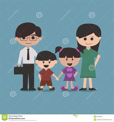 imagenes de la familia de animales personaje de dibujos animados feliz de la familia foto de