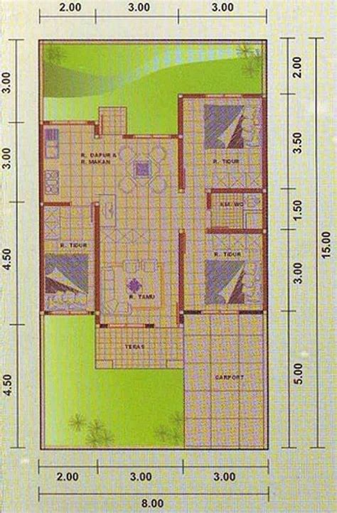 design rumah  meter  kamar
