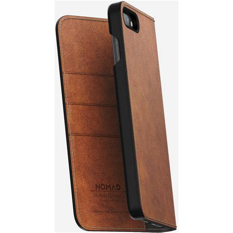 Nomad Leather Folio Iphone X Brown Traditional nomad leather folio for iphone 7 plus 8 plus