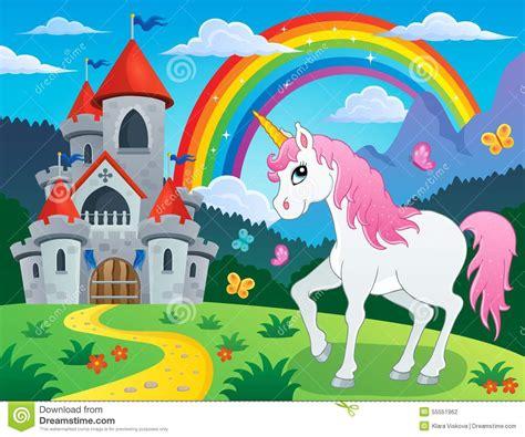 unicorn fairy tale illustrations fairy tale unicorn theme image 4 stock vector image
