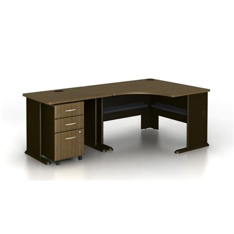 Walnut Corner Computer Desk Bush Business Series A 3 Corner Computer Desk In Walnut Wc25566 Pkg3