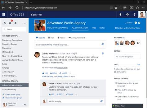 Office Yammer Introducing Yammer External Groups Office Blogs