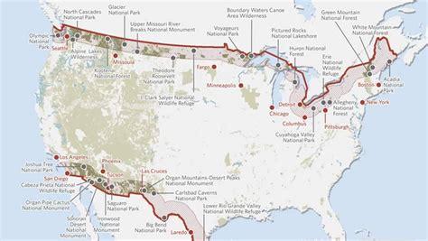 us canada border map new bills threaten national parks wilderness wildlife
