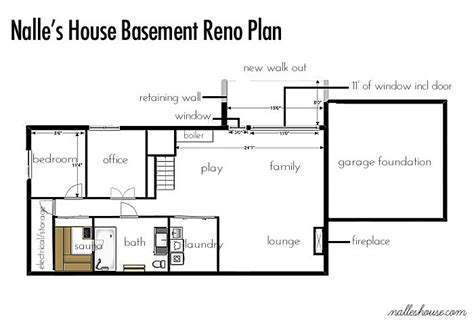 Ranch House Floor Plans With Basement Ranch Basement Floor Plan N A L L E S H O U S E Pinterest Floor Plans And