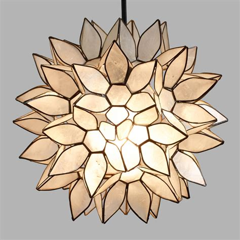 Lotus Capiz Chandelier Small Capiz Lotus Pendant Shade World Market