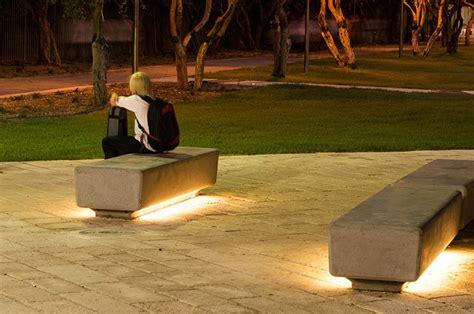 led bench naama agassi public furniture barak led light bench
