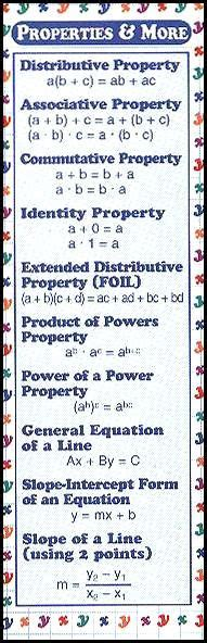 printable math bookmarks 1000 images about math properties on pinterest