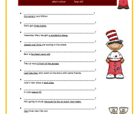 preguntas answer the questions negatively using complete sentences and direct object pronouns question words elementary worksheet
