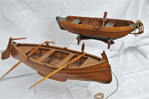Get Cheap Handmade Ship Models - 2 handmade wooden ship models rowing boat and boat