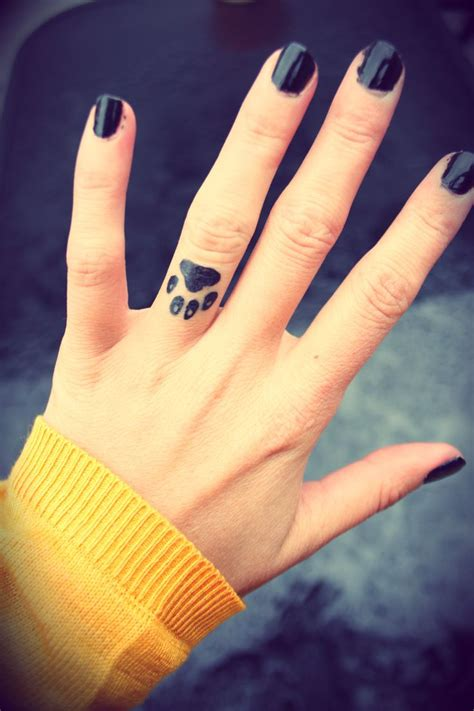 tattoo finger dog 17 best images about paw tattoos on pinterest ankle
