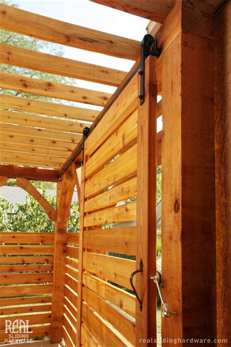 Barn Doors Houston Pergola Barn Doors Traditional Exterior Houston By Real Carriage Door Sliding Hardware