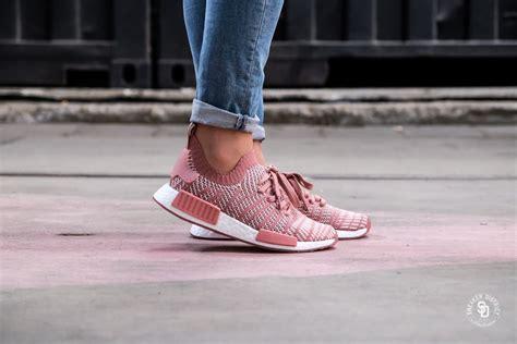 adidas womens nmd  stlt primeknit ash pinkorchid tint footwear white cq