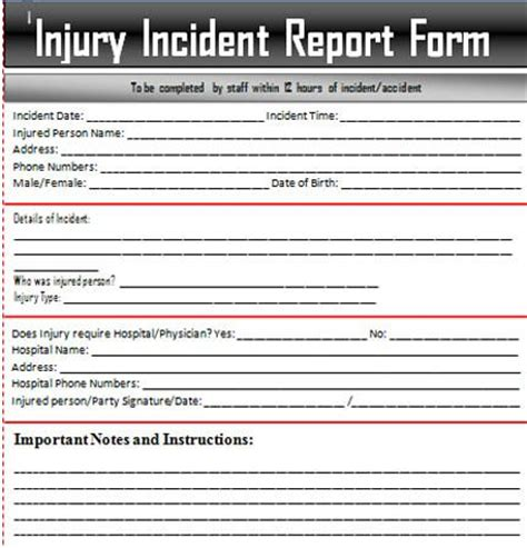 Incident Report Exle Hospital Sle Incident Report Letter Word Excel Templates