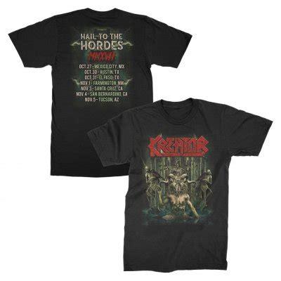 Tshirt Kreator Black hail to the hordes us tour t shirt black shop the