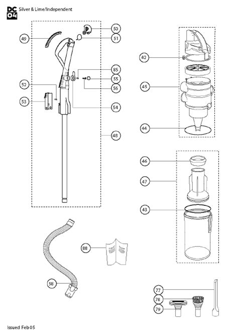 dyson parts diagram dyson vacuum parts diagram images