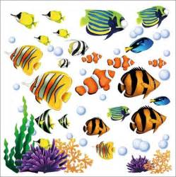 Repositionable Wall Murals tropical fish wall stickers decals under the sea ocean