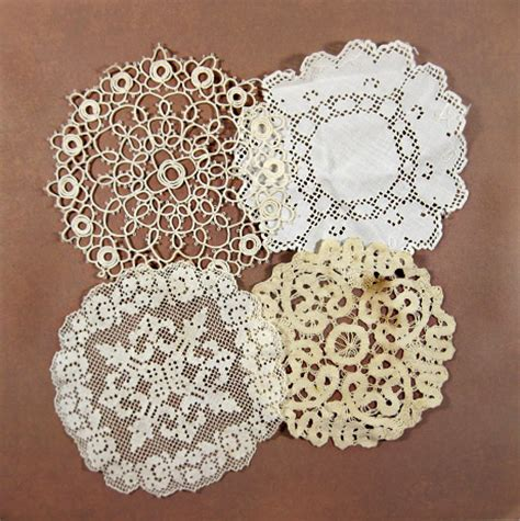 Handmade Lace - small antique lace doilies handmade