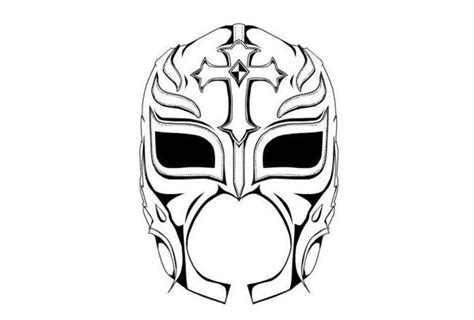 rey mysterio mask coloring pages pictures to pin on