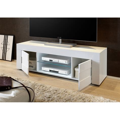 easy ii 138cm high gloss tv unit with imitation