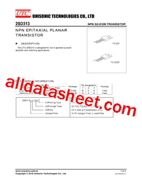 datasheet transistor d313 selamat datang di kurniawanpunyagaye data sheet transistor d313