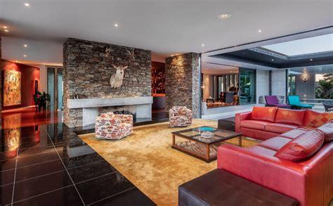 contemporary home   zealand  indoor pool floor