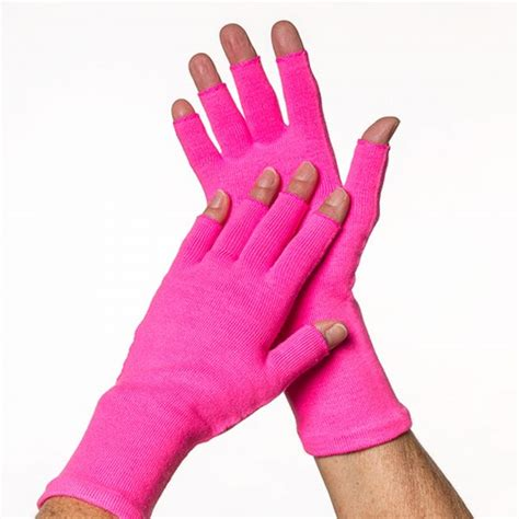 compression gloves for knitting limbkeepers non compression 3 4 finger gloves pair