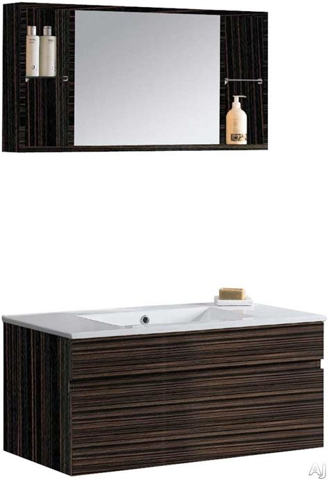 Sliding Countertop Hardware by Vigo Industries Vg09008109k 36 Quot Modern Wall Mount Vanity With Sliding Drawer Soft Closing