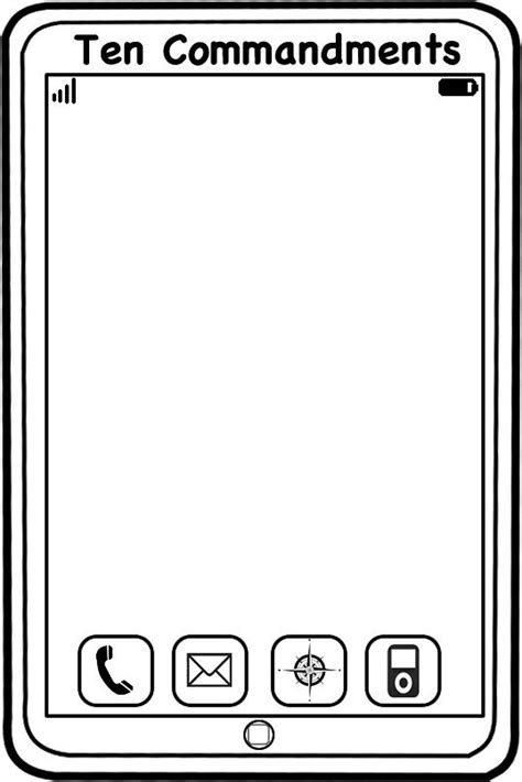 Template For 10 Commandment Iphone Sunday School Ideas Pinterest Head To Loved Ones And Ten Commandments Printable Template