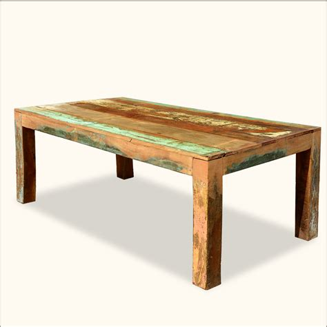 reclaimed large dining table rustic for 8 distressed wood