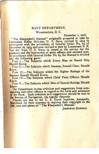 Believe Jaket Bjm 01 bluejackets manual 1913 2nd edition
