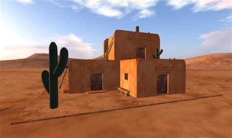 adobe houses second life marketplace southwest adobe house with furniture 93 prims
