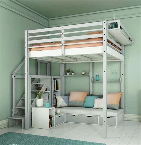 lit mezzanine avec armoire intégrée lits mezzanines modulable
