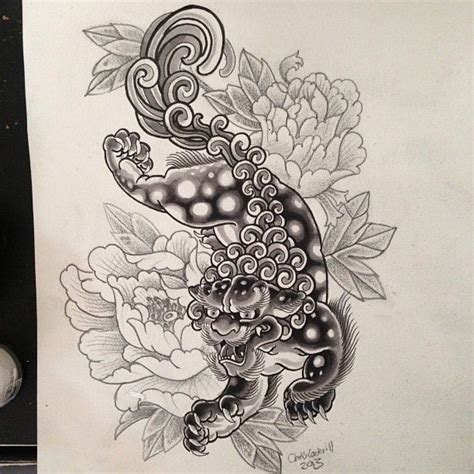 chinese foo dog tattoo designs foo fu buda imperial guardian sure why